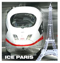 ICE ZUG BAHN PARIS
