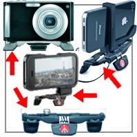 EMPFEHLUNG: Das geniale Mini-Taschenstativ von Manfrotto® im Hosentaschen-Format: Pocket, für Digital-Kameras, iPhone® und Smartphones!