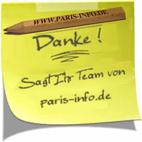 Post-it: Das paris-info Team sagt DANKE!
