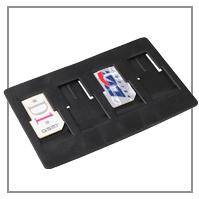 SIM-Karten Etui Kreditkartenformat zur Aufbewahrung von SIM Karten