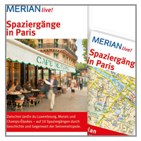 SPAZIERGÄNGE IN PARIS - MERIAN - MIT KARTEN