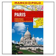 MARCO POLO CITY MAP STADTPLAN / KARTE VON PARIS IM MASSSTAG 1 :