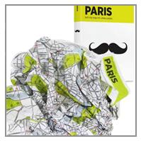 CRUMPLED CITY MAP PARIS
